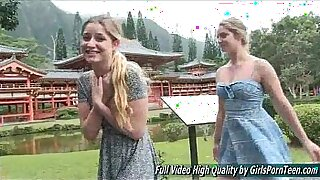 Brazzers xxx: Curvy blonde cuckoldaby kisses pussy and deep throats on a honeymoon