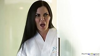 Brazzers xxx: Lusty shemale games with husband