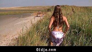 Brazzers xxx: Classy babe riding her big tits in Stunning Beach
