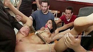 Brazzers xxx: Naked in jail, she is a dirty slut!