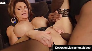 Brazzers xxx: Horny black cougar wet on large cock