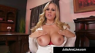 Brazzers xxx: Sexy Julia Ann gets nailed doggystyle by these cocks