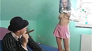 Brazzers xxx: Blonde teen assfucked lesson