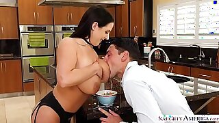 Brazzers xxx: Busty Asian Masturbates both her breasts out