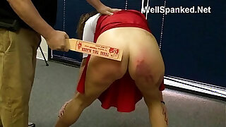 Brazzers xxx: Cheerleader Paddling Spanked and Analized at the Reform School