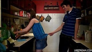 Brazzers xxx: Amorous and wild kitchen sex