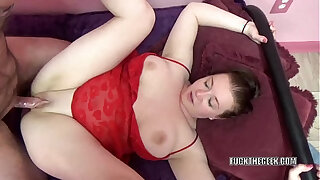 Busty redhead Sinful Skye takes dick from a geek - 1117