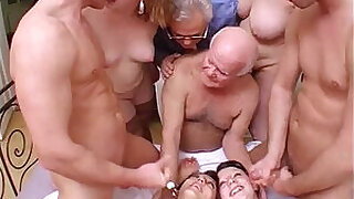 Brazzers xxx: Crazy orgy with grandpa in a dirty and perverse family!