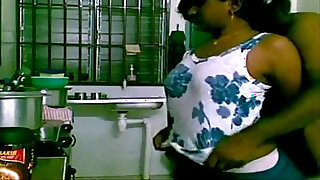 Brazzers xxx: Indian Couple in Kitchen Home made