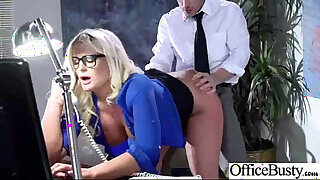 Brazzers xxx: julie cash Big Tits Girl Get Busy In Office Banging Hard