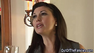 Brazzers xxx: Real stepmom swallow cum