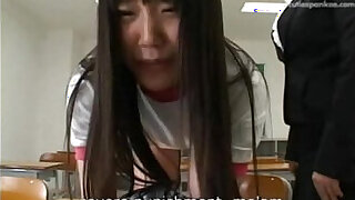 Brazzers xxx: Cute japanese teen spanked by her teacher