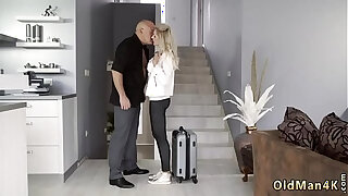 Brazzers xxx: Old couple seduce babysitter and lady for white That was a long