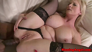 Brazzers xxx: Mature blonde assfucked by black meat