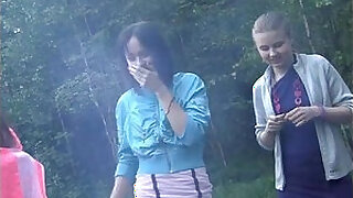 Brazzers xxx: Russian students staged an orgy in the woods