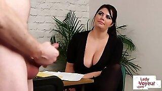 Brazzers xxx: hot voyeur British big tit slut
