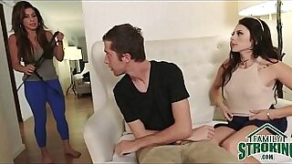 Brazzers xxx: Step sister fucks Nympho lick fuck Her Mom Deep Mouth!