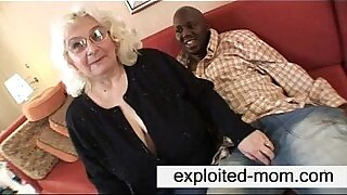 Brazzers xxx: Granny feeds black cock