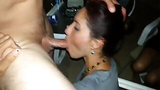 Brazzers xxx: Amateur Big Tit Wife Pretends Not To See Husband To Weekend Blowjob