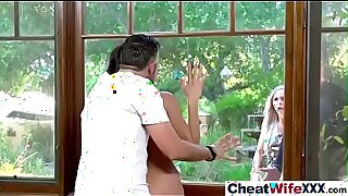 Brazzers xxx: Cheating Housewife fucked in the jungle
