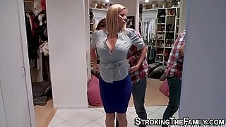 Brazzers xxx: Busty Blowjob From His MILF Fave