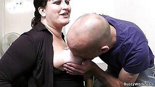 Brazzers xxx: office secretary with big tits straponfucked